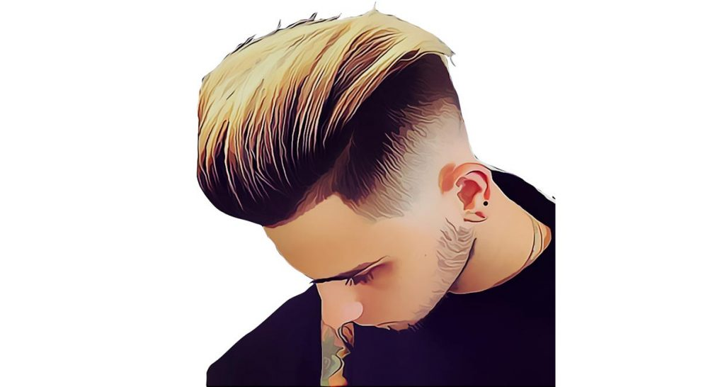 High Fade Undercut Hairtsyle with Slick Back Hair