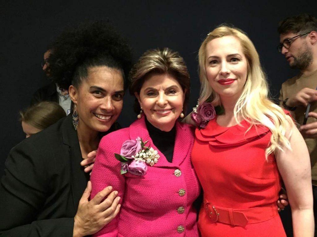 Lili Bernard With Women Activists