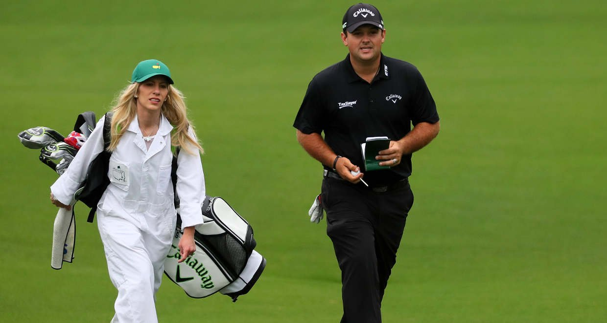 Patrick Reed with wife Justine Karain