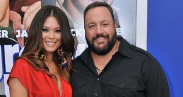 Steffiana de la Cruz with Kevin James