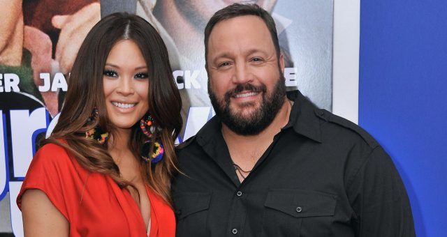 Steffiana de la Cruz with Kevin James