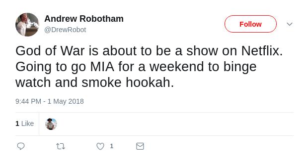Andrew Robotham Tweet