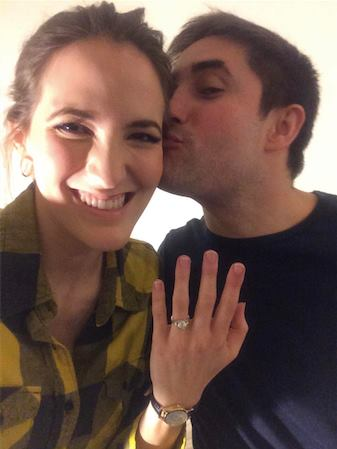Betsy Woodruff with her fiance Jonathan Swan