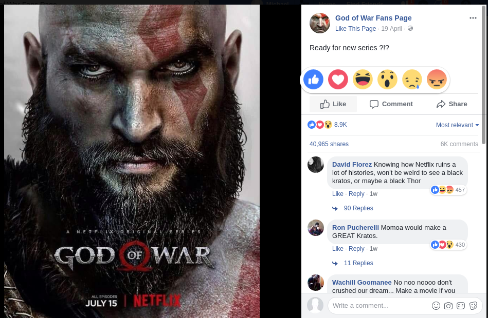 God of War netflix