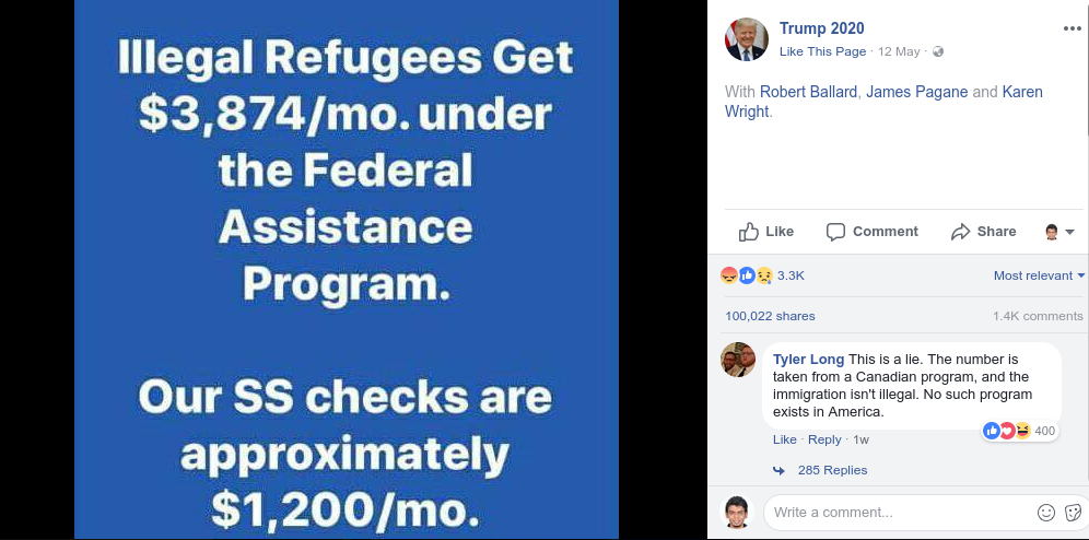 Illegal Refugees Welfare