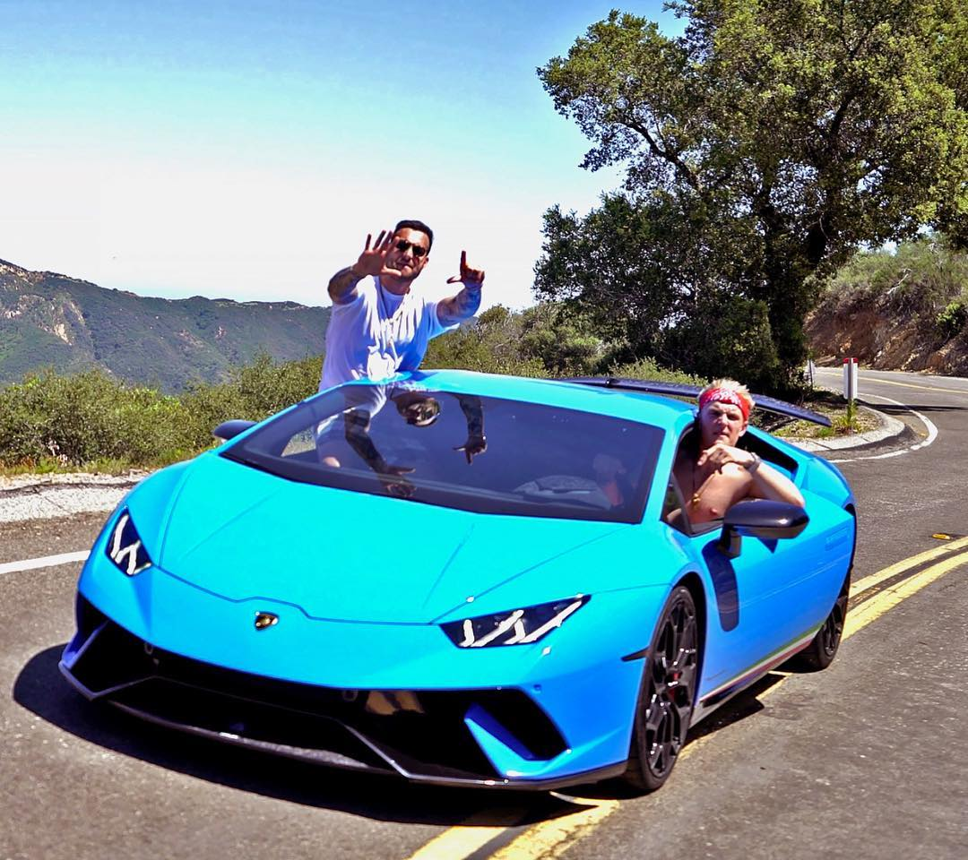 Lil Tay Jake Paul Collaborating On Instagram The Blue Lamborghini