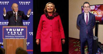 John Oliver Rudy Giuliani and Hillary Clinton
