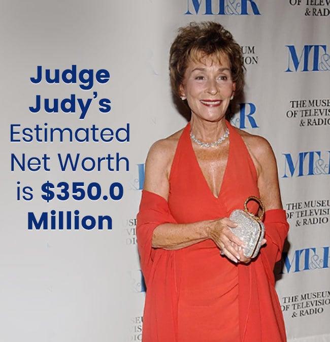judge judy u2019s estimated net worth 2018 is  350 0 million