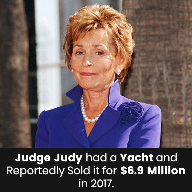 Judge Judy had a yacht