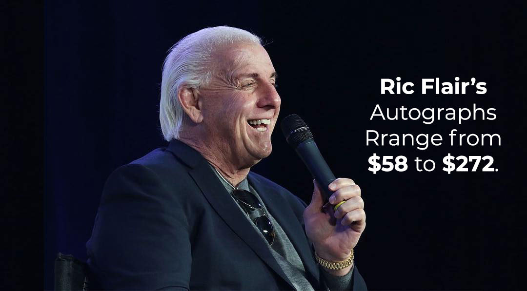 Ric Flair's autographs cost