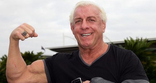 Ric Flair shows he's still ripped for 69