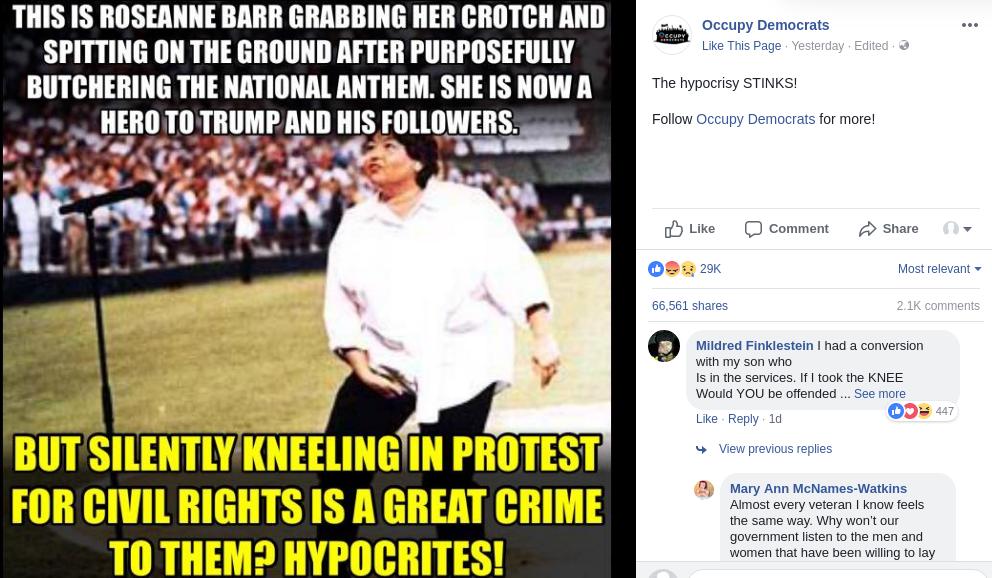 Roseanne Barr Grabbing Her Crotch