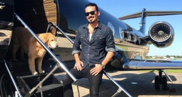 Sidney Torres boards a private plane to New York City