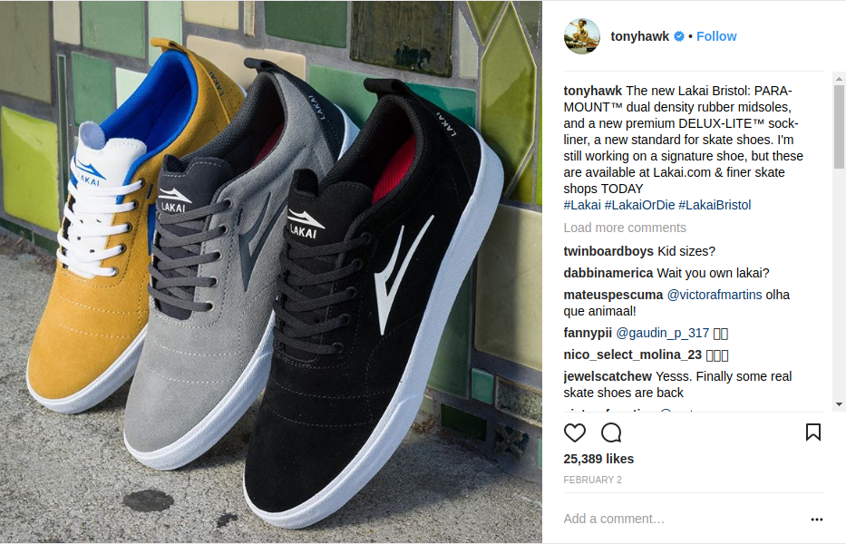 Tony Hawk Promoting New Lakai Footwears