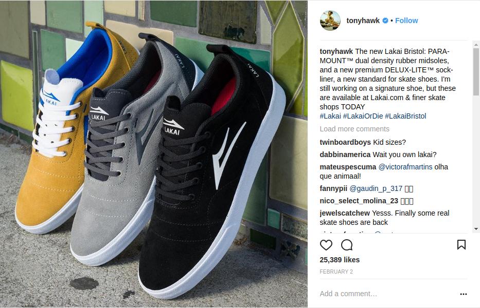 Tony Hawk Promoting New Lakai Footwears