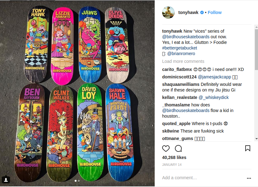 Tony Hawk's Birdhouses Skateboards
