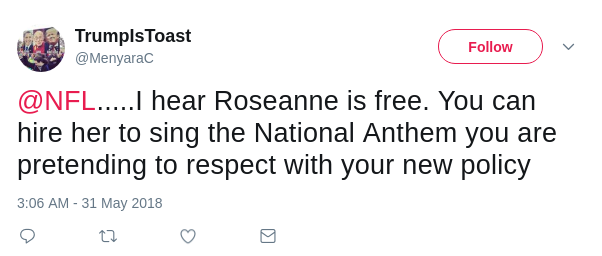 Tweet on Roseanne