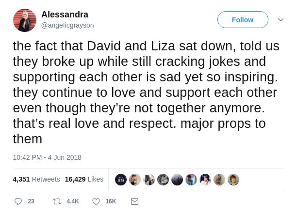 Alessandra's Tweet