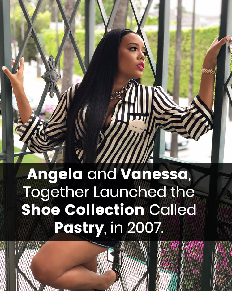 Angela Launched Shoe Collection With Her Sister