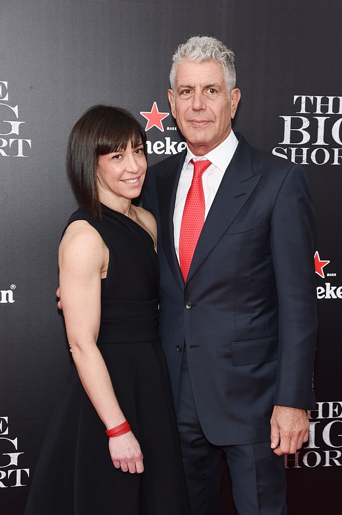 Anthony Bourdain With Ex-Wife Ottavia Busia