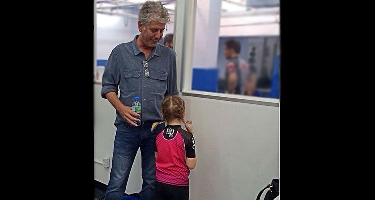 Anthony Bourdain with His Daughter