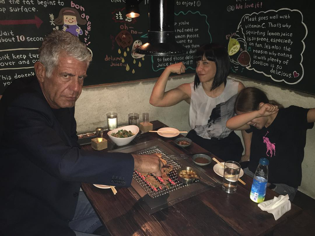 Anthony Bourdain with Ottavia Busia