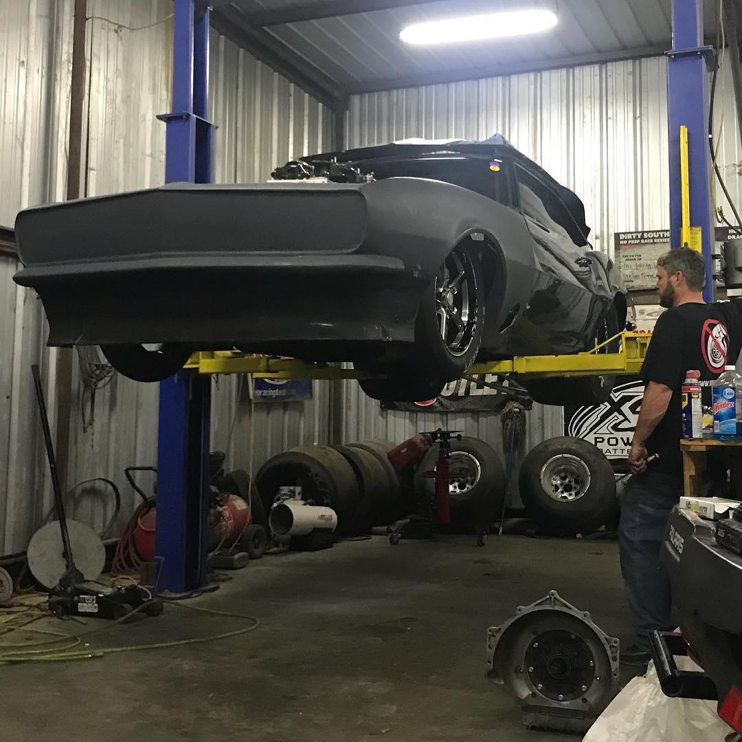 Barry Godfather Nicholson's black Camaro