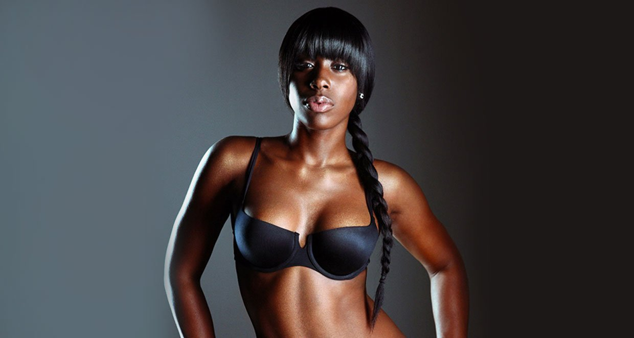 Bria Myles Looks Ravishing in a Black Bikini