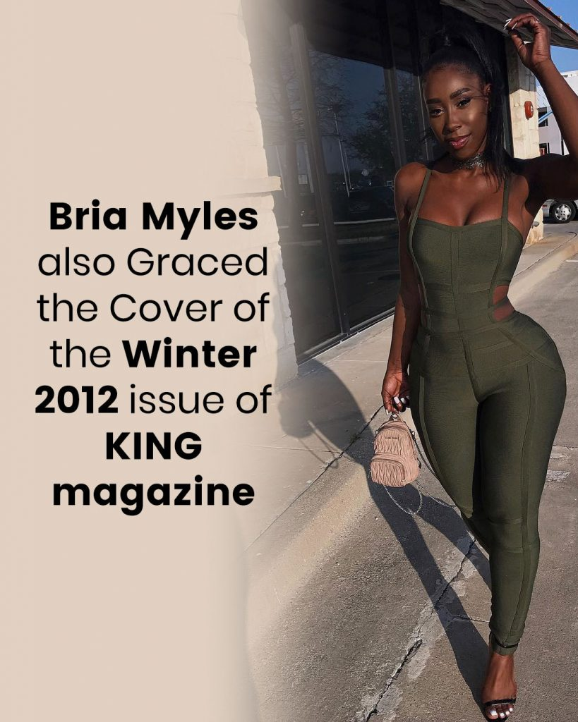 Bria Myles also Graced the Cover of the Winter 2012 issue of KING magazine