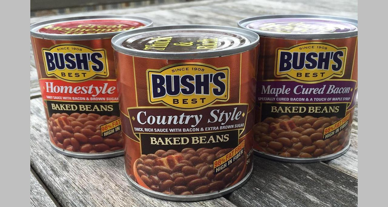 Cans of Bush Baked Beans