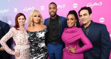 Carrie Preston, Jenn Lyon, KendallKyndall, Niecy Nash and Jason Antoon at the premiere of TNT's Claws