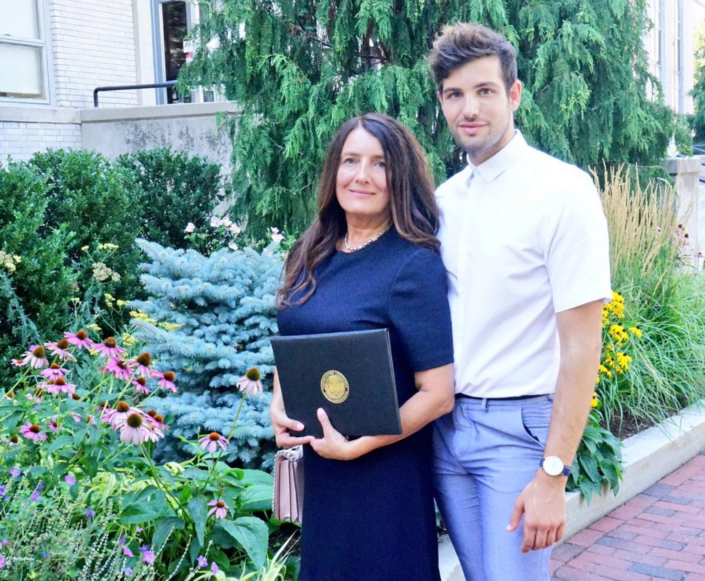 Daniel Preda and his mother, Maria Preda