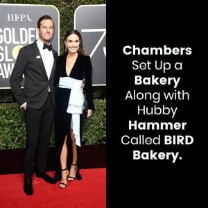 Armie Hammer (L) and Elizabeth Chambers
