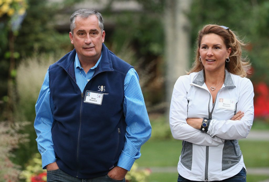 Brandee Krzanich and her Husband Brian Krzanich Attend A Sun Valley Conference Together