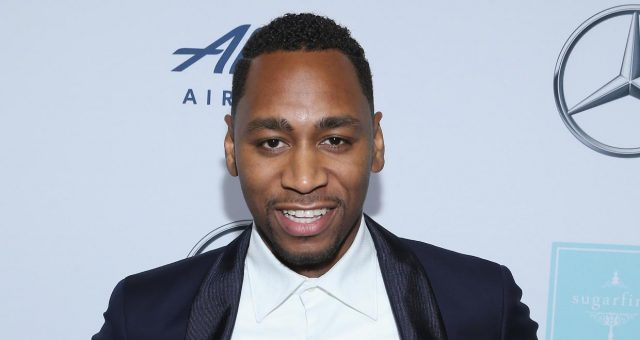 Gianno Caldwell at the Mercedes-Benz USA Official Awards Viewing Party