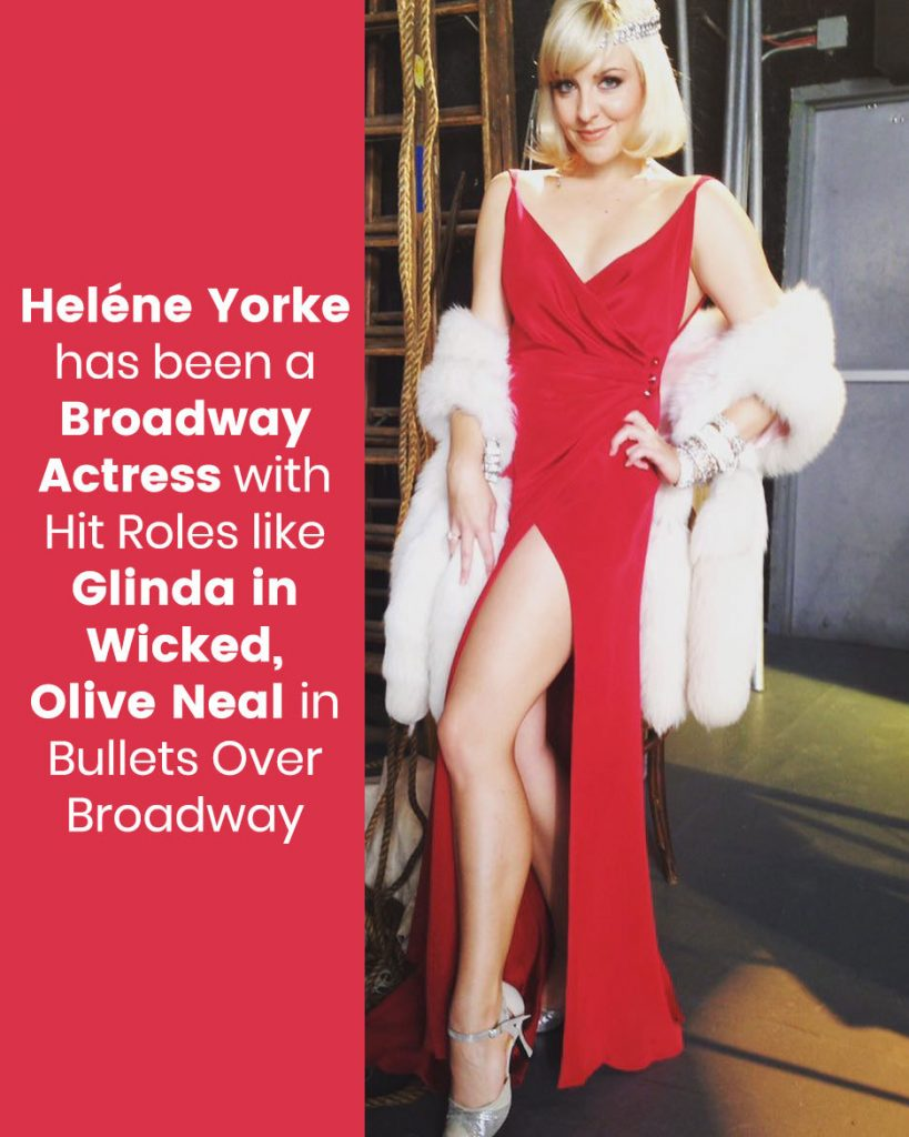 Heléne Yorke has been a Broadway actress
