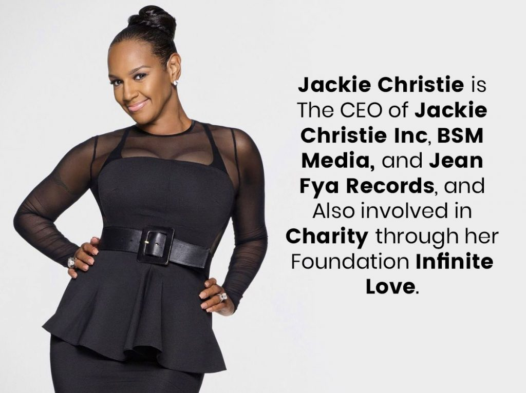 Jackie Christie is The CEO of Jackie Christie Inc