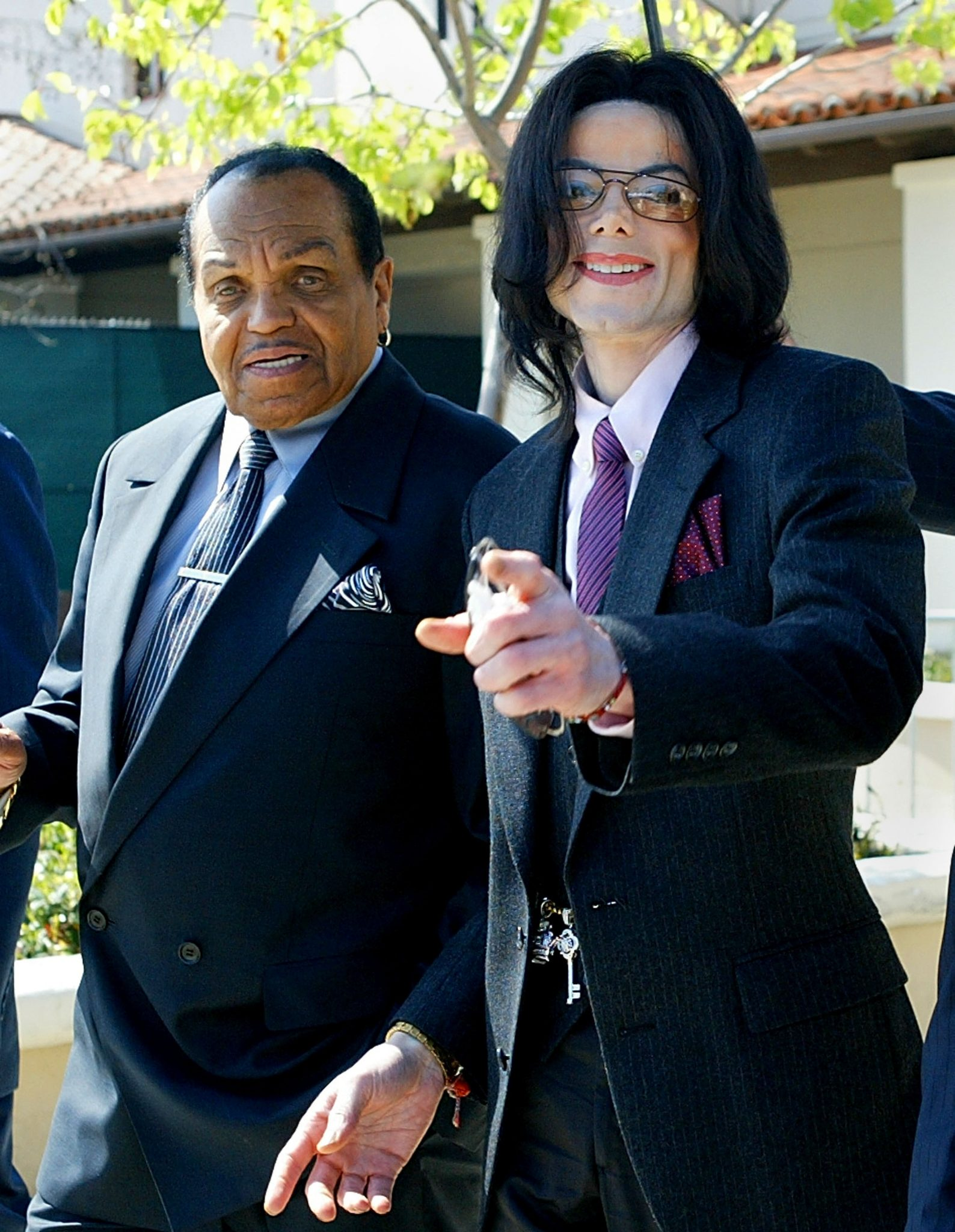 Joe Jackson with Son, Michael Jackson