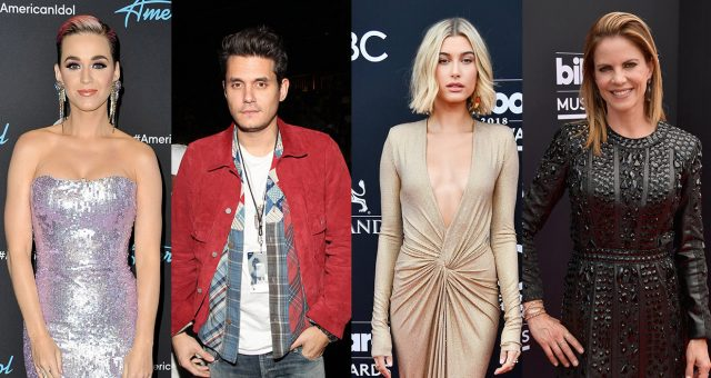 John Mayer's Girlfriends till date. Katy Katy Perry(Left), Hailey Baldwin(Right-Middle), Natalie Morales(Right)