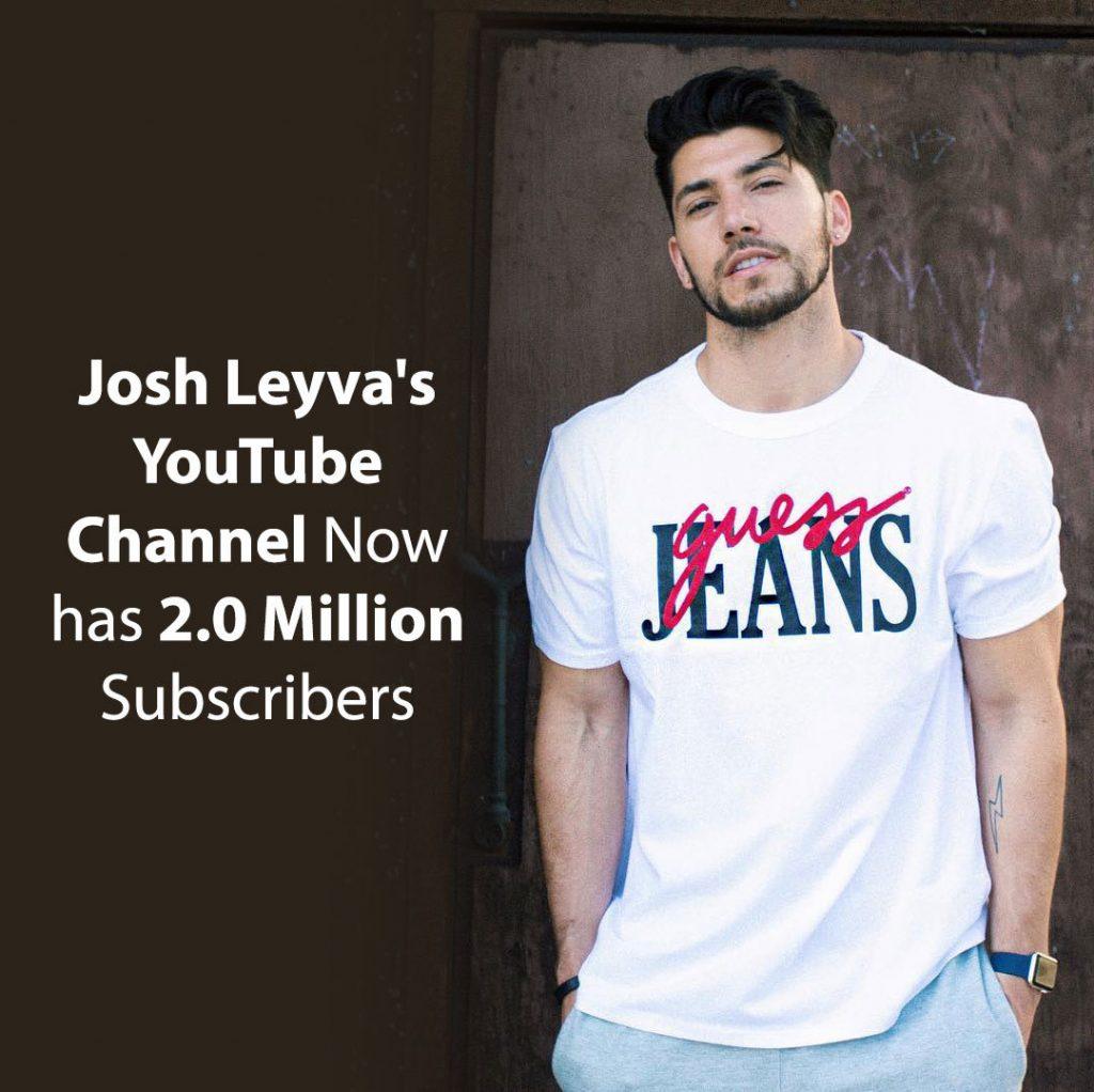 Josh Leyva's YouTube channel now has 2.0 million subscribers