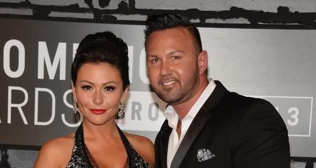 Jwoww and Roger Mathews at the 2013 MTV Video Music Award