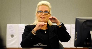 Kathleen McCrone Newton at a hearing in Clark County Regional Justice Center