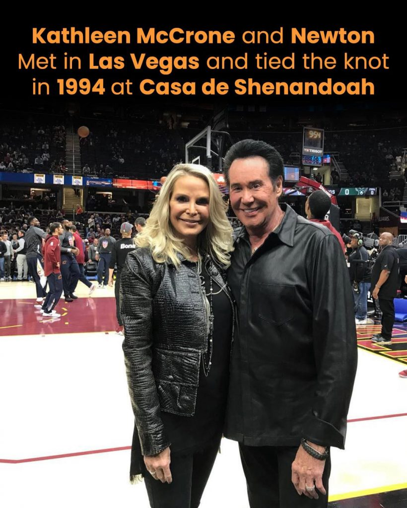 Kathleen McCrone and Newton met in Las Vegas