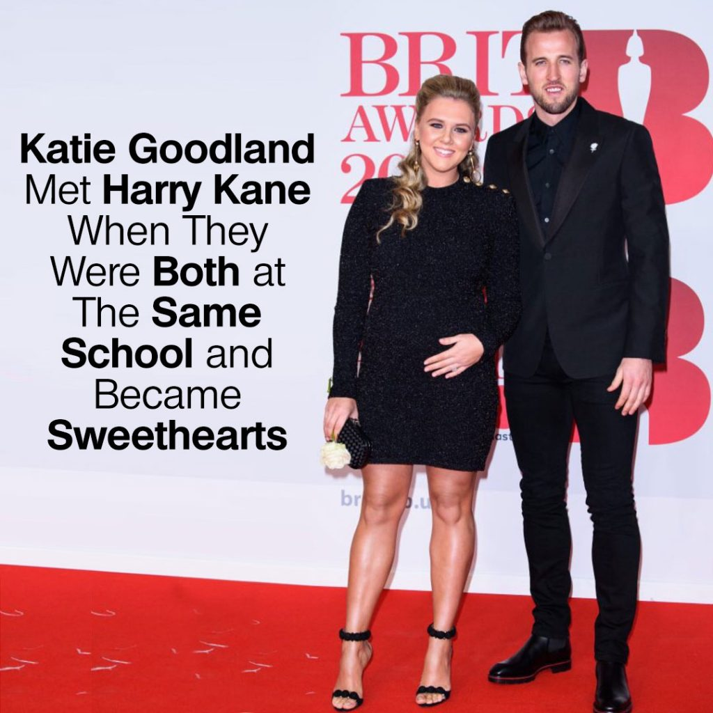 Katie Goodland met Harry Kane when they were both at the same school