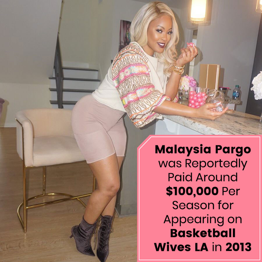 Malaysia Pargo was reportedly Paid around $100,000 Per Season for Appearing on Basketball Wives LA in 2013