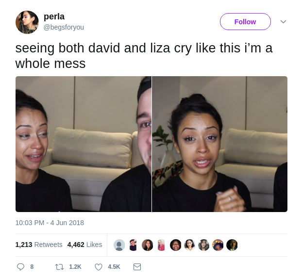 Perla's Tweet on David and Liza Breakup