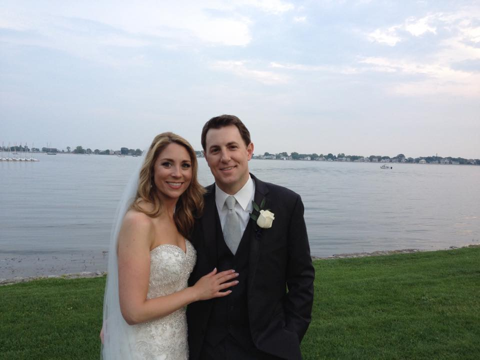 Todd Piro and Amanda Raus on their wedding day
