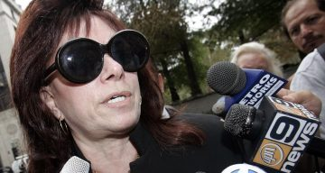 Victoria Digiorgio, mother of John Gotti Jr., leaves Manhattan Federal court September 26, 2005 in New York City.