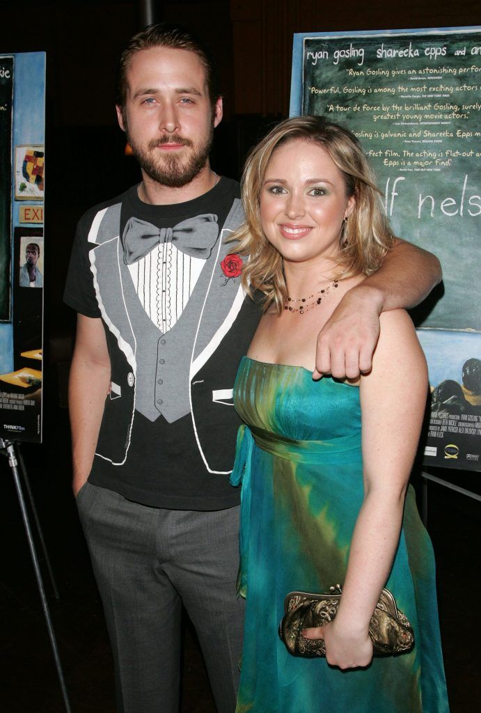 Actor Ryan Gosling and his sister Mandi Gosling attend the Think Films premiere of 'Half Nelson' at Tribeca Cinemas