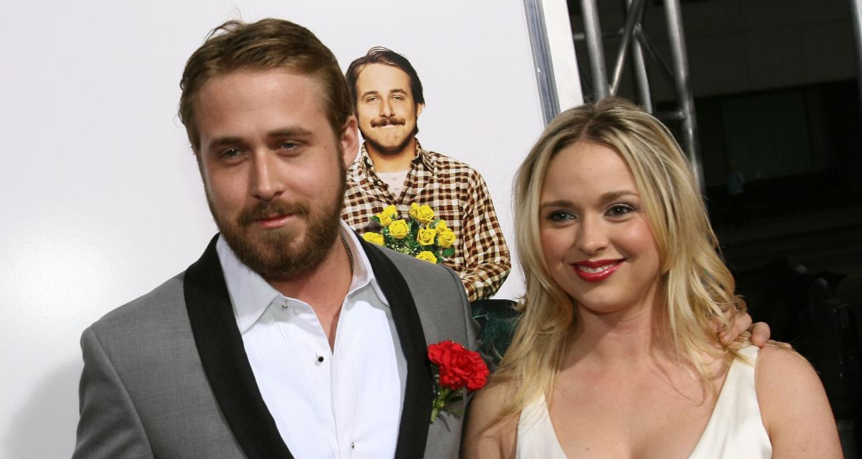 Actor Ryan Gosling(left) and his sister Mandi Gosling(right)arrive at the premiere of MGM's 'Lars